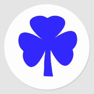 Shamrock Blue The MUSEUM Zazzle Gifts Classic Round Sticker