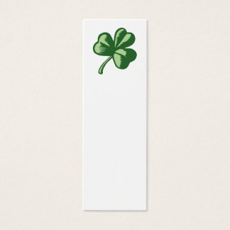 Shamrock Bookmark Mini Business Card