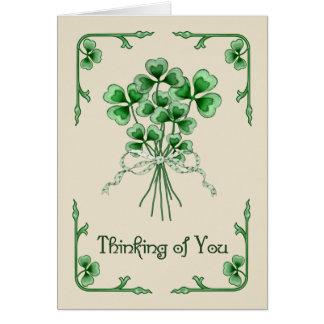 Shamrock Bouquet Card