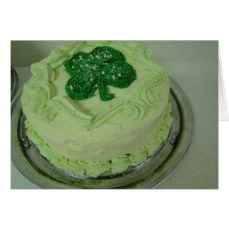 Shamrock Cake St Patrick s Day Greeting Card