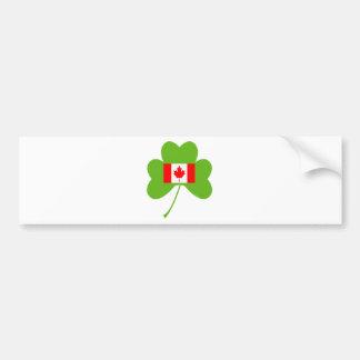 Shamrock-Canada Bumper Sticker