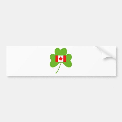 Shamrock-Canada Bumper Stickers