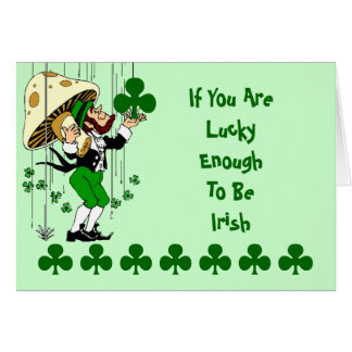Shamrock Card Lucky Enough Irish St. Patrick's Day