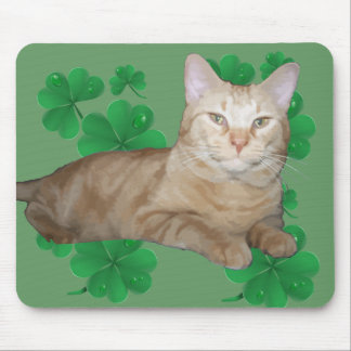 Shamrock Cat Mousepad