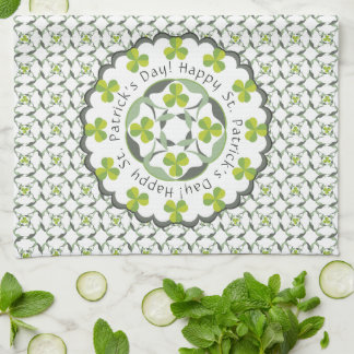 Shamrock Celtic Inspired Pattern St. Patrick's Day Kitchen Towel