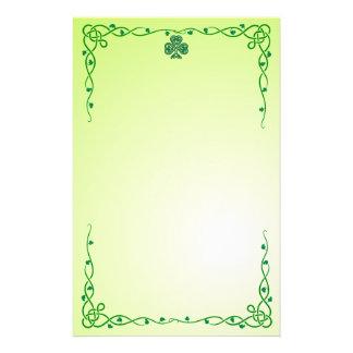 shamrock celtique stationnaire papier à lettre personnalisable