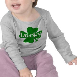 Shamrock chanceux de vert de jour de St Patricks d T-shirts