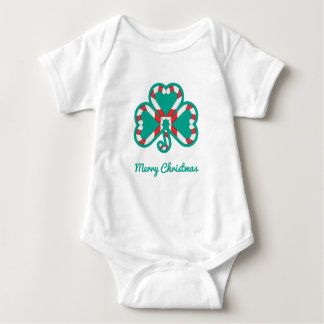 Shamrock Christmas Baby Creeper Suit
