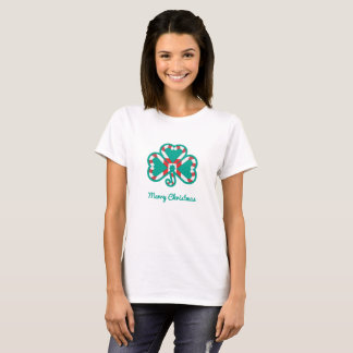 Shamrock Christmas Ladies Shirt