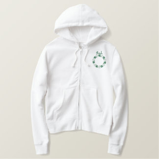 Shamrock Circle Embroidered Design Embroidered Hoodie