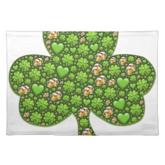 Shamrock Clover Beer St. Patrick's Day, Patty's Placemat
