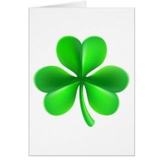 Shamrock Clover Leaf Card