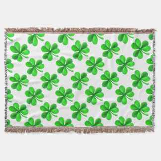 Shamrock Clover Leaf Throw Blanket
