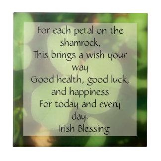Shamrock Clover St. Patrick's Day Tile