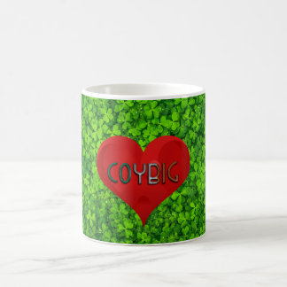 Shamrock Clovers Green Irish Heart COYBIG Ireland Coffee Mug