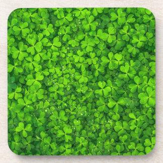 Shamrock Clovers Green Irish Symbol Ireland Coasters