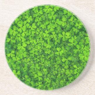 Shamrock Clovers Green Irish Symbol Ireland Drink Coasters