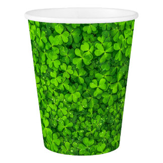 Shamrock Clovers Photography Irish Saint Patrick Paper Cup