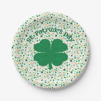 Shamrock Confetti St. Patrick's Day Plates