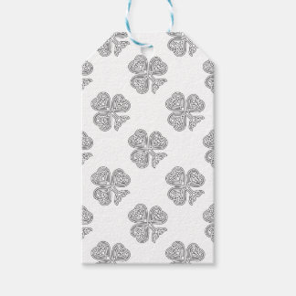 Shamrock Design Black and White Gift Tags