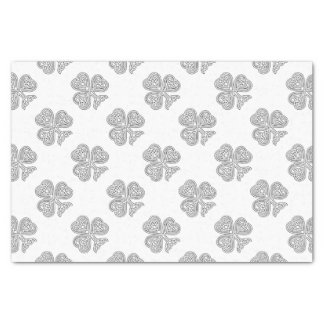 Shamrock Design Black and White Tissue Paper