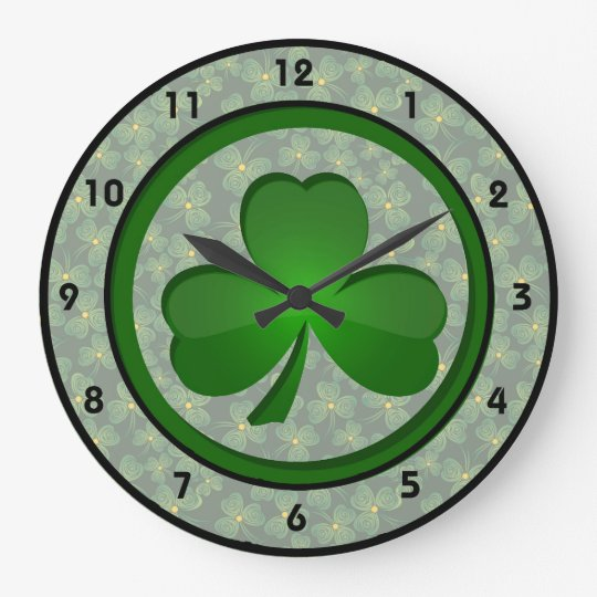 Shamrock Design Clock