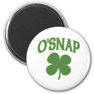 Shamrock d'Irlandais d'O'Snap Magnet Rond 8 Cm