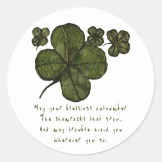 Shamrock Fields Round Sticker