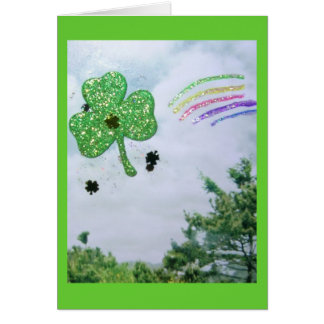 Shamrock Floating Note Card