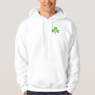 Shamrock front and back hooded sweatshirt