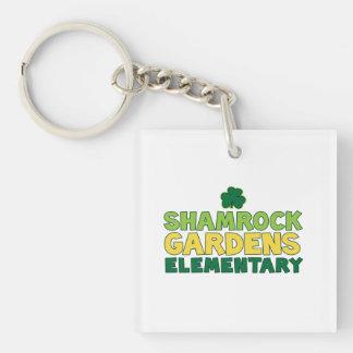 Shamrock Gardens acrylic keychain