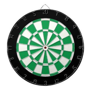 Shamrock Green Black And White Dartboard