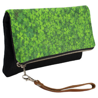 Shamrock Green Clovers Irish Love Clutch