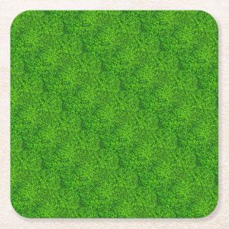 Shamrock Green Irish Saint Patricks Day Ireland Square Paper Coaster