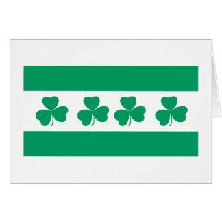 Shamrock Green River Card