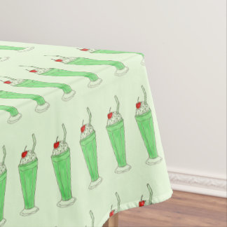 Shamrock Green Shake Milkshake St. Patrick's Day Tablecloth