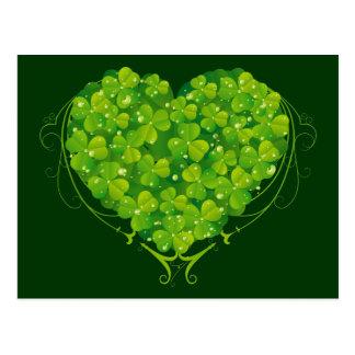 Shamrock Heart Postcard