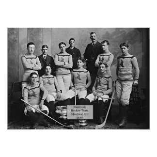 Shamrock Hockey Team, Montreal, QC 1899` Poster