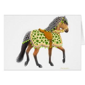 Shamrock Horse Greeting Card
