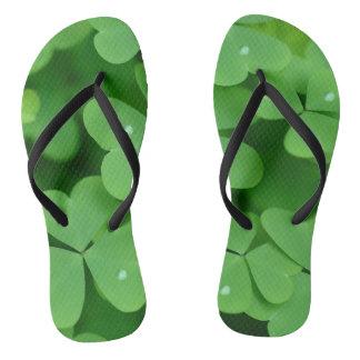 Shamrock image for Adult, Slim Straps Flip Flops