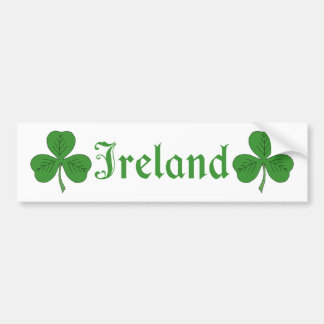 Shamrock Ireland Bumper Sticker