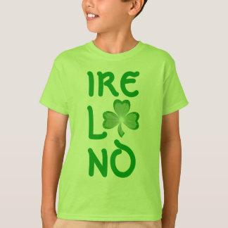 Shamrock 'Ireland' t-shirt vertical green kids