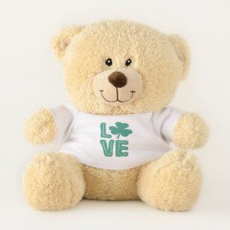 Shamrock Irish St Patricks Day Green Love Teddy Bear