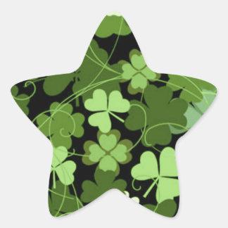 Shamrock irlandais vert sticker étoile