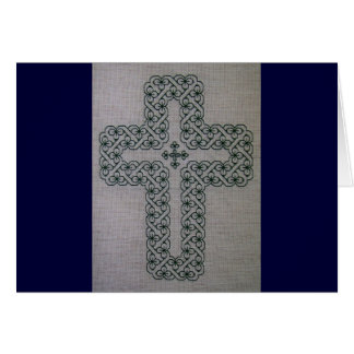 Shamrock Lattice Cross notecard
