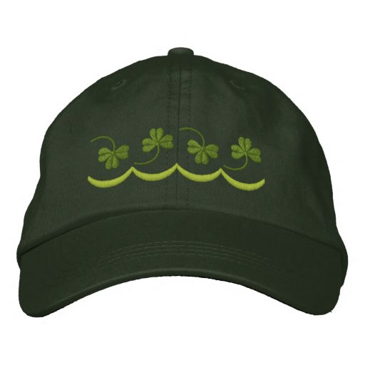Shamrock Line Embroidered Hats
