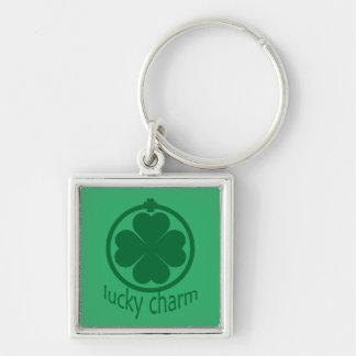 Shamrock Lucky Clover St Patricks Premium Keychain