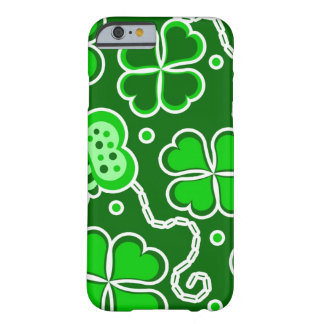 Shamrock Lucky Four Leaf Clover & Butterflies Barely There iPhone 6 Case