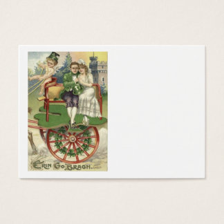 Shamrock Married Couple Horse Carriage Cherub Business Card