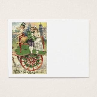 Shamrock Married Couple Horse Carriage Cherub Business Card